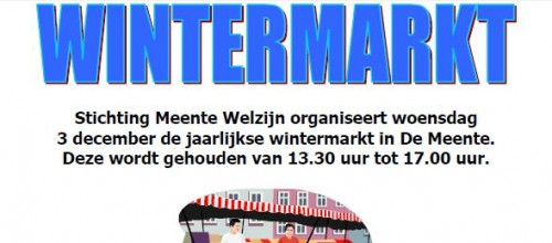 Poster Wintermarkt