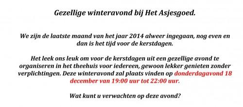 winteravond 18 december 2014