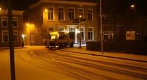 Sneeuw in Genemuiden, afgelasting bij Sportclub. Foto John Poot