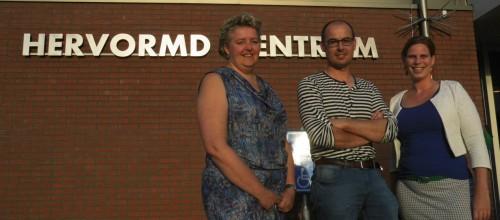 Ineke Pleijzier, Bertran Stoter en Alberdine Kijk in de Vegte van de VBK-stuurgroep. Tekst en foto: Enrico Kolk