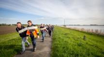 De Vijf gebroeders passeert Vollenhove © Erik Eenkhoorn