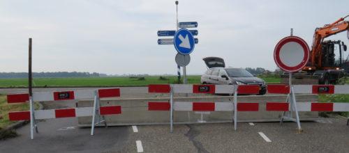 Randweg afgesloten .. Tekst en foto's : Joke Veldman