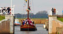 Sint arriveert. Foto Jeroen Eenkhoorn