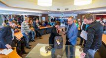Lijsttrekkers in debat, afgelopen zaterdag foto: Erik Eenkhoorn